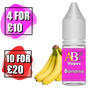 Banana Eliquid by ABZ Vapes 10ml