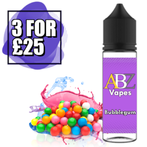 Bubblegum Shortfill 50ml by ABZ Gold